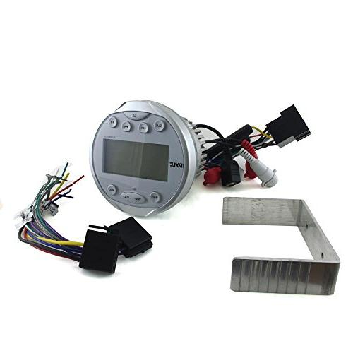 Pyle Waterproof Aquatic In Dash Gauge System with Bluetooth, RCA Harness, -