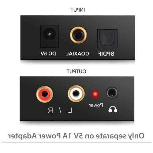 PROZOR Toslink Audio R/L Adapter HD