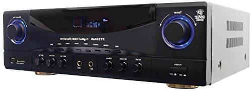 PyleHome Receiver - 350 W - Dolby AM, - HDMI - 4 In - HDMI Out - Pyle