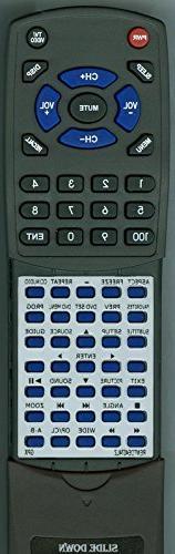 Replacement Remote for GPX TDE1384B, TDE3274B, TDE3274BP, TD