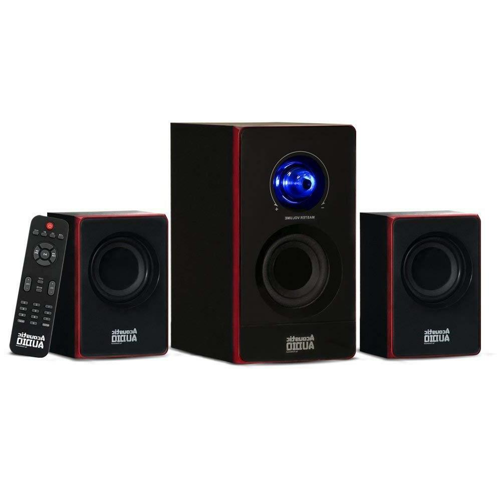 Stereo Bass System Home Audio Shelf Sound Speakers Radio Wir
