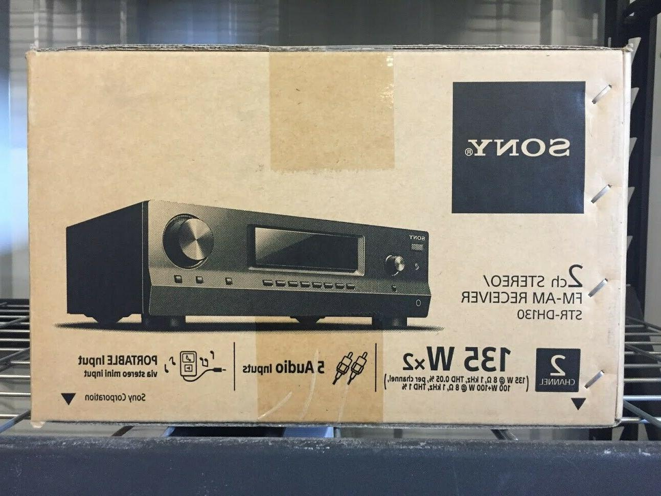 Sony STR-DH130 2 Channel 100 Receiver New**