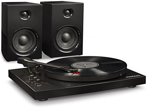 t100a bk bluetooth turntable system
