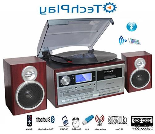 TechPlay ODC128BT with Player/Recorder, CD,MP3 SD Card / USB FM Radio, Line , Speakers