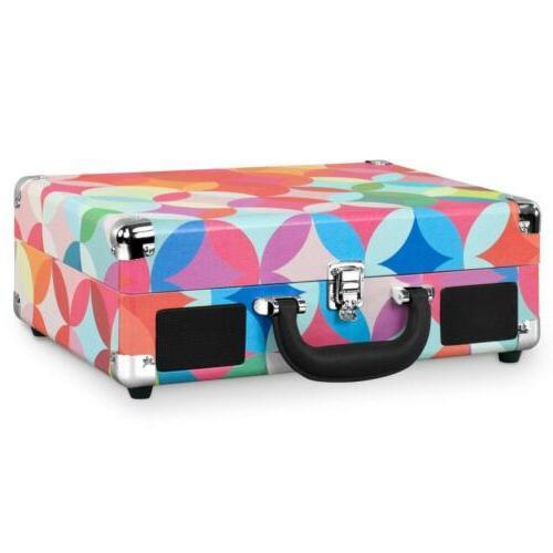 Victrola Suitcase with Geo Print