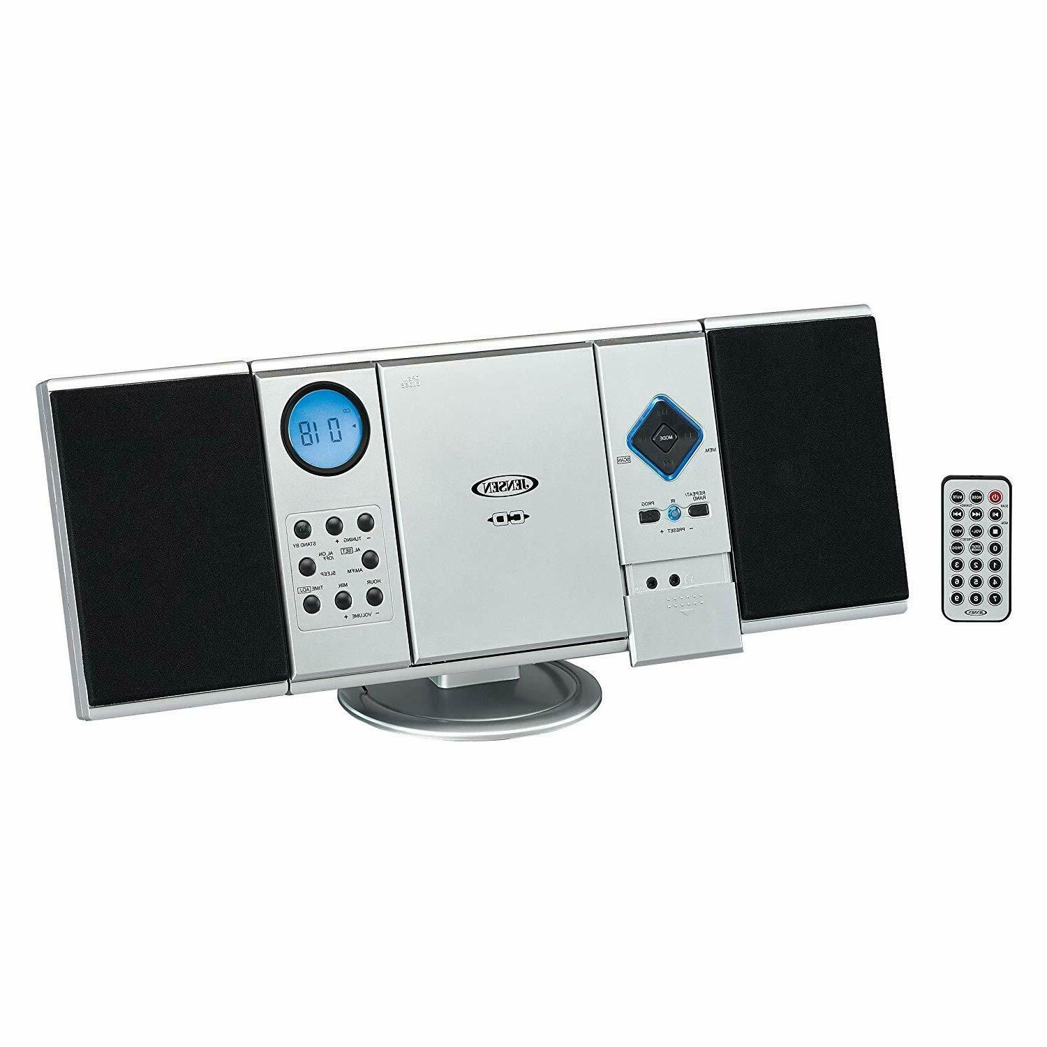 WALL MOUNTABLE MICRO HOME STEREO SYSTEM AM/FM RADIO CD PLAYE