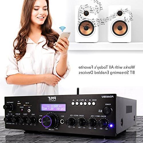 Wireless Power System - 200W Dual Channel Sound Receiver USB, AUX, MIC w/ Radio - Studio Use - PDA65BU