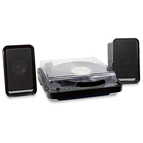 iLive Wireless Turntable Speakers, Lighting, Black