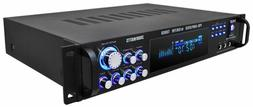 NEW PYLE 3000 WATT Blue LED Home Stereo Receiver Amplifier A
