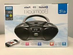 New iLive Boombox Portable CD Player FM Radio w/ Bluetooth w