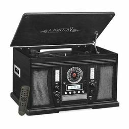 Victrola Nostalgic Aviator Wood 7-in-1 Turntable Entertainme