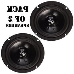 """Pack of  Pyle PDMR5 Car DJ/Home Mid Bass Mid Range 200W, 5"""""""