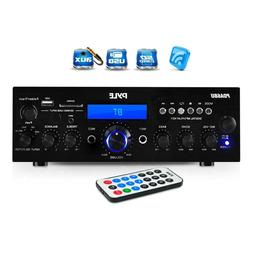 Pyle PDA6BU Bluetooth Stereo Amp Receiver  FM  LCD Display