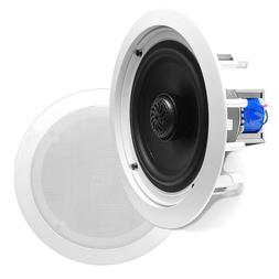 "6.5"" Ceiling Wall Mount Speakers - Pair of 2-Way Midbass W"