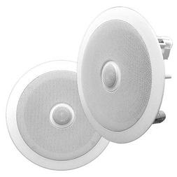 "8"" Ceiling Wall Mount Speakers - Pair of 2-Way Midbass Woo"