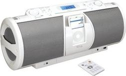 iLive Portable 2.1-Channel CD Boombox with Docking Station f