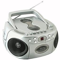 Sylvania Portable Cd Player AM/FM Radio Tuner Mega Bass Refl