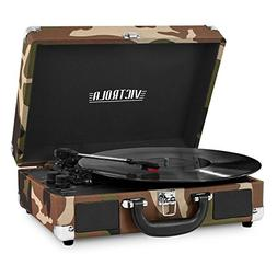Portable Victrola Suitcase Record Player With Bluetooth Camo