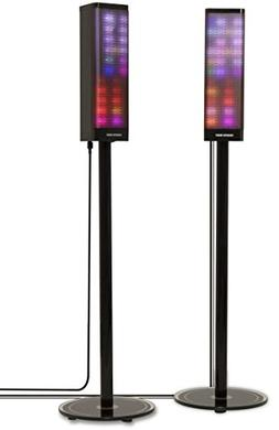 Sharper Image SBT1019 2 Pair Bluetooth Tower Speakers, Stere