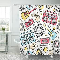 Emvency Shower Curtain Polyester Print 72x72 Inches Cartoon