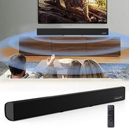 Soundbar, Wohome TV Sound Bar Wired and Bluetooth Wireless A