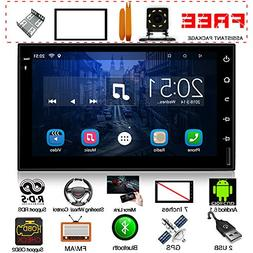Upgraded Android Double Din 7 Inch Touch Screen car Stereo i