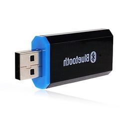 QOFOWIN USB Bluetooth Receiver Adapter Wireless Audio Adapte