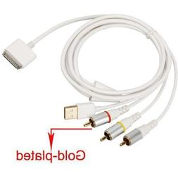 JOMOQ USB Charger Composite AV to TV RCA Video Cable Compati