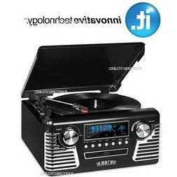 Innovative Technology V50-200-BLK Bluetooth Stereo Turntable