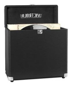 Victrola Vintage Vinyl Record Storage Carrying Case For 30+