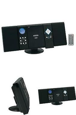 WALL MOUNT MICRO HOME STEREO SYSTEM AM/FM RADIO CD PLAYER w/