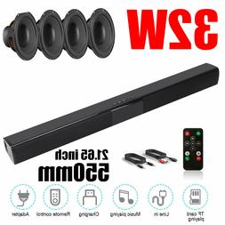 Wireless Bluetooth Sound Bar Speaker Home Cinema TV Powerful