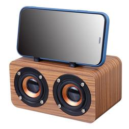 Wooden Wireless Bluetooth Portable Speakers Subwoofer <font>