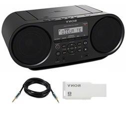 Sony ZSRS60BT CD Boombox with Bluetooth NFC AM FM USB Headph